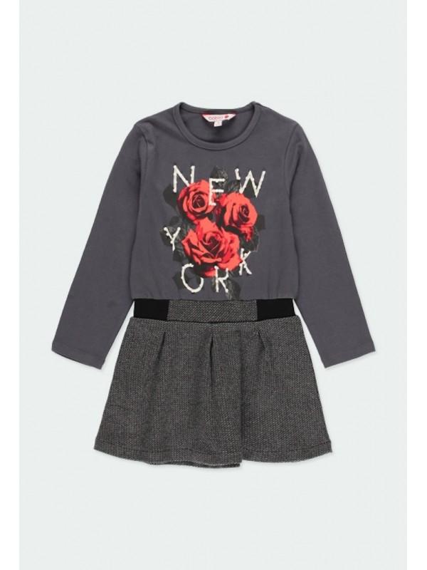 """Vestido punto """"new york"""" de niña"""